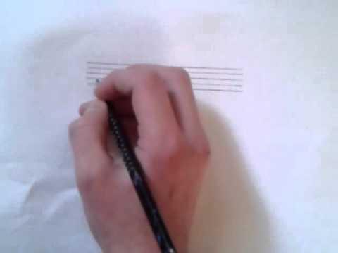 Violinschlüssel / Notenschlüssel zeichnen - eine Anleitung - YouTube