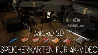 Die richtige microSD Karte für DJI Mavic Pro, Mavic Air, Spark, Phantom 4 Pro, GoPro Hero 5, Yi 4K