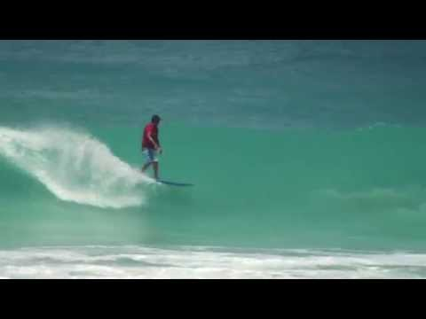 Surfing Cotton House Bay aka Freights Bay in Barbados April 16th 2013