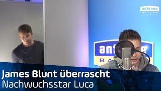 James Blunt überrascht Bayerns Nachwuchsstar Luca bei ANTENNE BAYERN