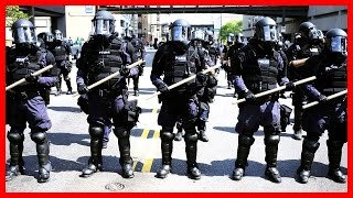 CRAZY Berkeley PROTEST Riot Police, Ann Coulter Speech, Donald Trump Supporters Rally Freedom Antifa