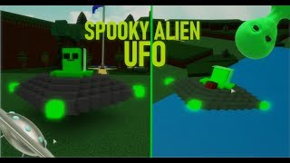 👽*Tutorial* How to make a SPOOKY UFO!🛸| Roblox Build a Boat
