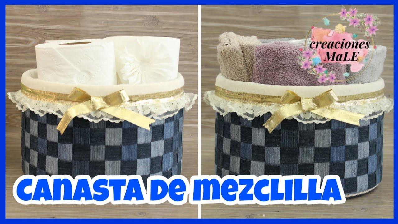 CANASTA DE MEZCLILLA || RECICLADO || DIY