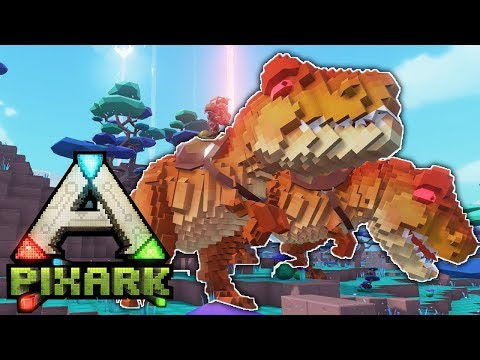 PixArk Let's Play - Ep 19 - Double Rex Trouble! PixArk Early Access Gameplay