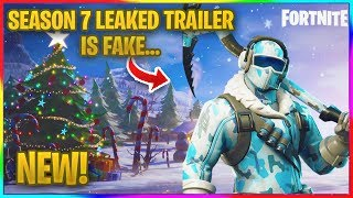 *NEW* FORTNITE SEASON 7 LEAKED TRAILER IS FAKE AND HERE'S WHY.... | Fortnite Leaks Debunked