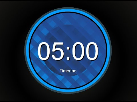 5 Minute Timer No Music With Alarm (Circular Version)