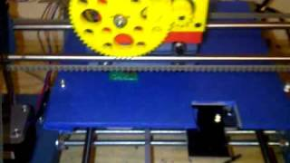 Testing blue 3D Printer, BotMill Glider Making plastic part! Rapid Prototype
