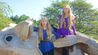 The TWINS and the TROLLS (Original Story and Song) Harp Twins, Camille and Kennerly