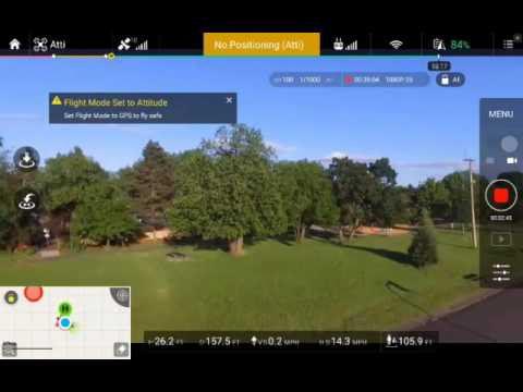 Screenshot Of Flying In Atti Vs. GPS Mode With Phantom 3 Standard