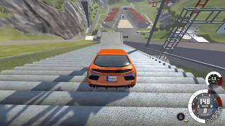 Amazing car crash in stairs !