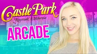 Playing Arcade Games at Castle Park!