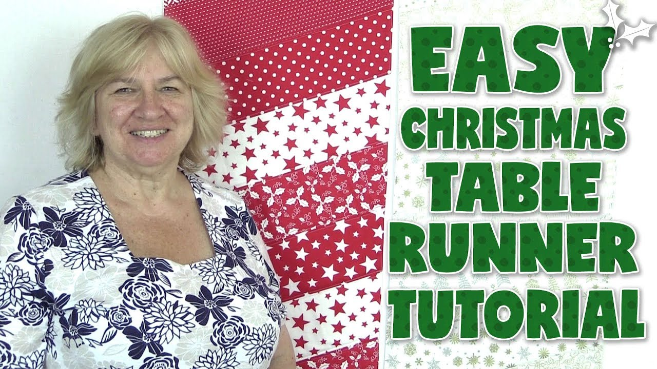 Christmas Table Runner Patterns Free.Easy Christmas Table Runner Tutorial No Binding