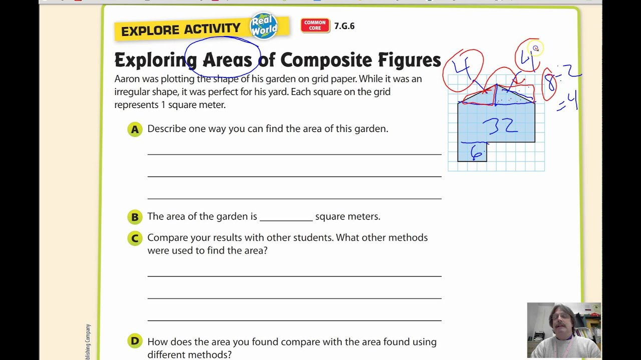 Lesson 93 Area Of Composite Figures Youtube