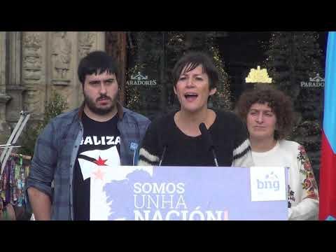 Intervención de Ana Pontón no acto pola democracia e a soberanía na Praza do Obradoiro.