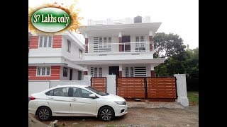 37 Lakhs -Ernakulam  Aluva Small budget new cute house for sale 3 cent 1300 sqft 3 bhk