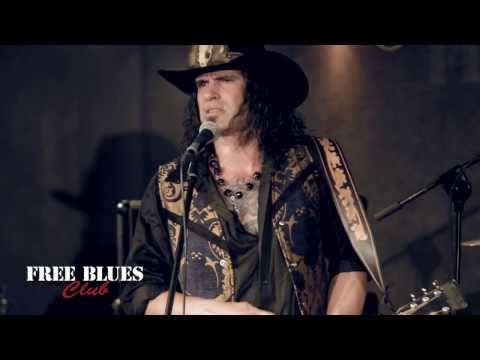 "Eric Sardinas & Big Motor in Free Blues Club - ""I am Worried"""