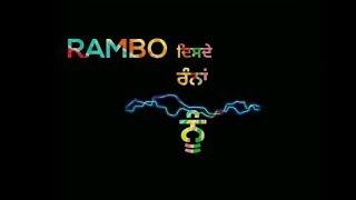 Rambo | A Kay | Western Penduz | New Punjabi Song WhatsApp Status 2019