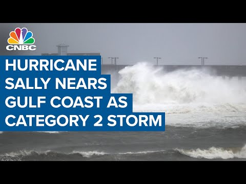 Hurricane Sally Creeps Toward The Gulf Coast As Category 2 Storm