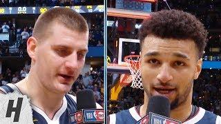Nikola Jokic & Jamal Murray Postgame Interview - Game 7 | Spurs vs Nuggets | 2019 NBA Playoffs
