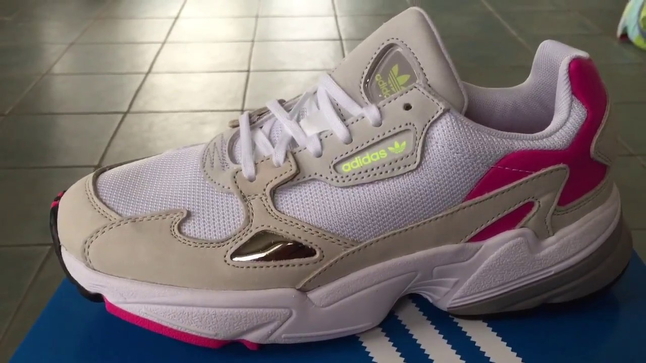 c266a3e9ce417b Kylie Jenner x Adidas Falcon White Pink CM8537 | Available Now - YouTube