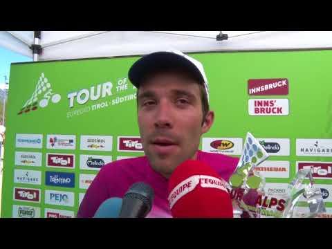 Thibault Pinot - interview d'arrivée - étape 5 - Tour of the Alps 2018