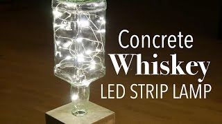 Cement Whiskey Bottle Lamp - selber machen mit Mini LED