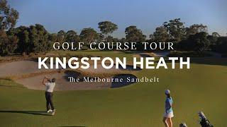 Flyover of Kingston Heath Golf Club, Melbourne Sandbelt, Victoria, Australia