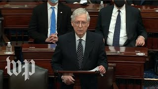 Watch Mitch McConnell's fขll speech on counting the electoral college votes