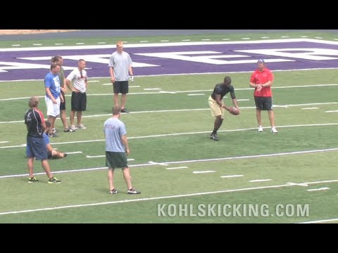 Longest Punt | NFL football punters see who can kick the far