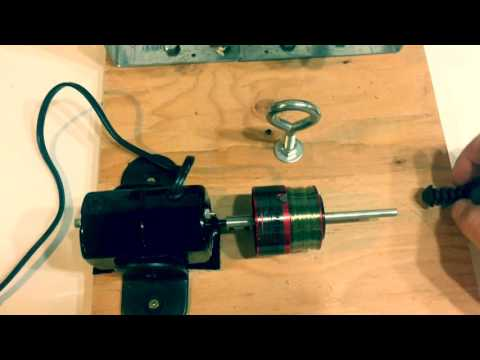 Fishing Line Winder Made With Sewing Machine Motor