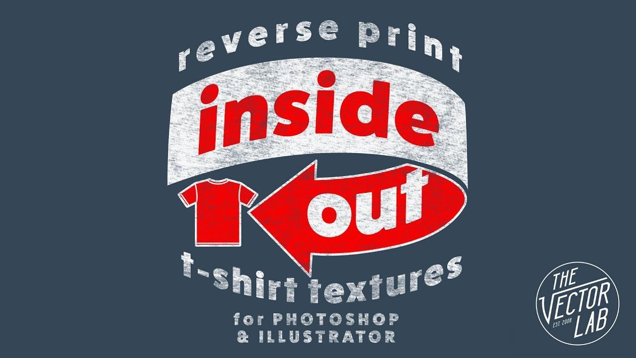 Inside Out Reverse Print Texture For T Shirt Printing Youtube