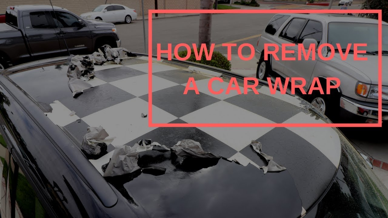 How To Remove A Full Roof Vinyl Wrap