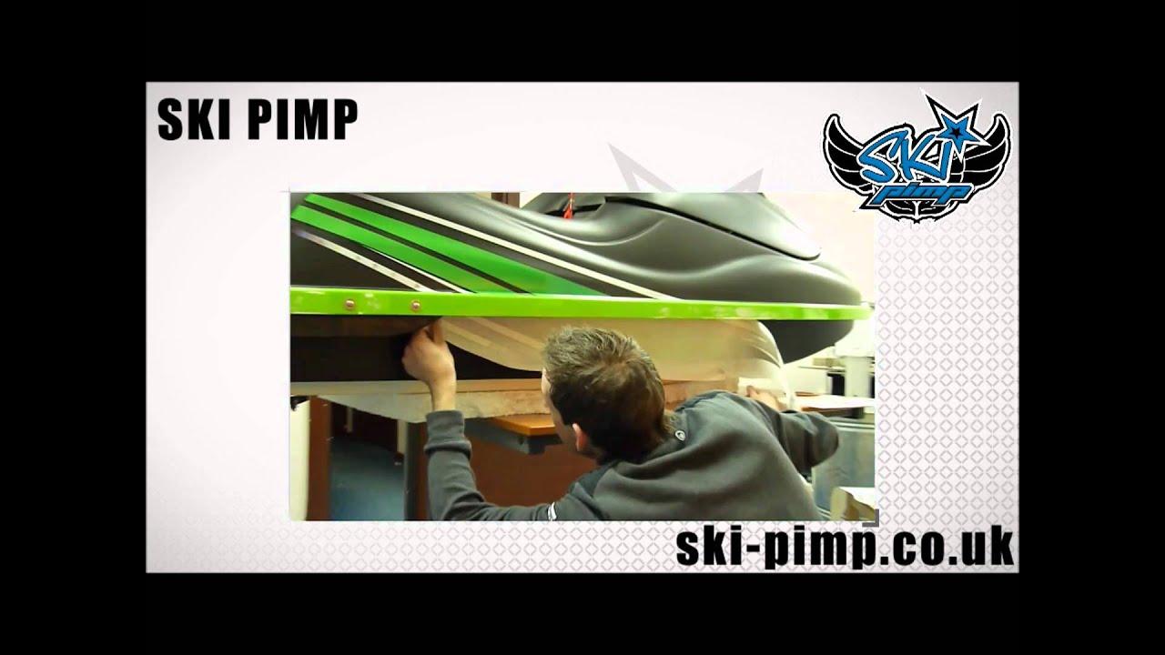 Ski pimp wrapping kawasaki sxr custom graphics