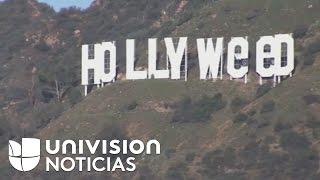 """Artista que cambió el letrero de Hollywood dice que su acción es """"arte para mostrar el progreso"""""""
