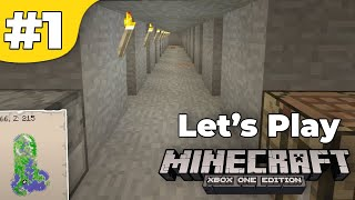 Lets Play Minecraft: Xbox One Survival: Episode 1: Omega Mine [Xbox One, 360, PS3, 4, Vita, Wii U]