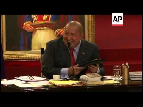 Chavez on new Spanish government and Obama