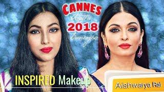 Aishwarya Rai Bachchan Cannes 2018 Inspired Makeup Look ||  Arpita Banerjee