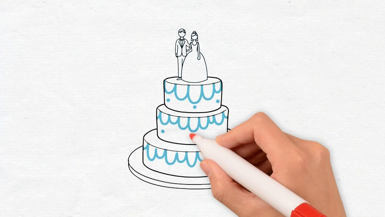 5 Creative Drawing Wedding Cake
