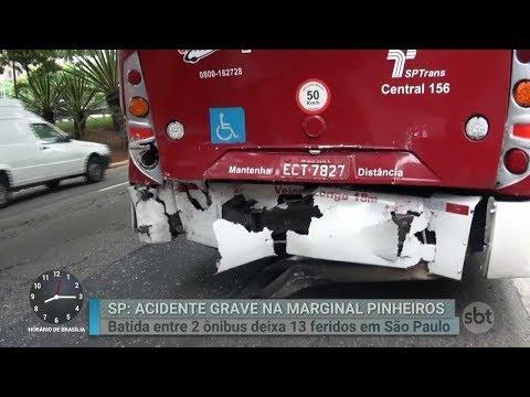 Acidente envolvendo dois ônibus deixa ao menos 12 feridos em SP | Primeiro Impacto (15/02/18)