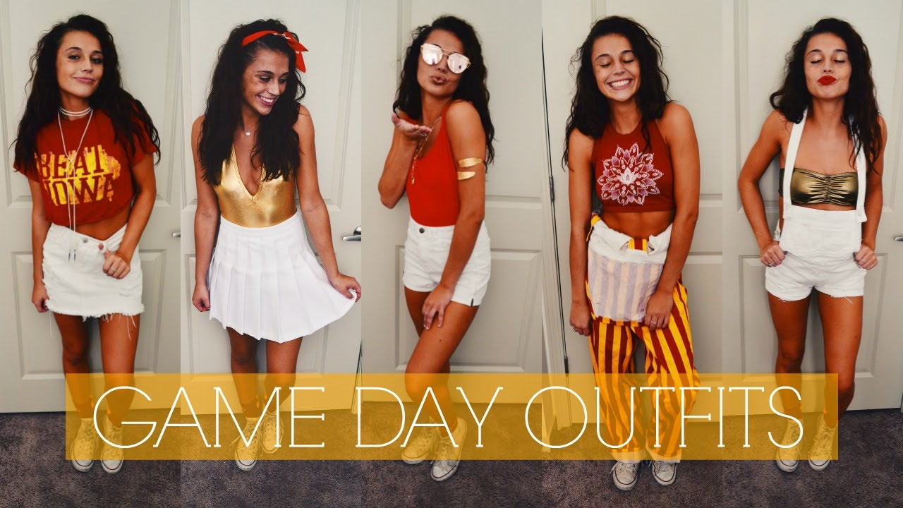 eaeb9a185205 On Campus  College Game Day Outfits - YouTube