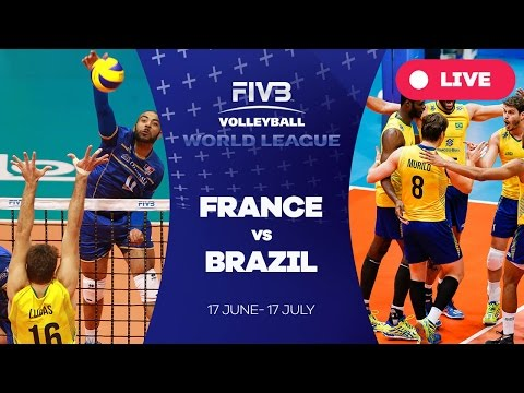 France v Brazil - Group 1: 2016 FIVB Volleyball World League