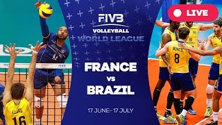 France v Brazil - Group 1: 2016 FIVB Volleyball World League(Watch the live stream of the FIVB Volleyball World League 2016 here! About the FIVB Volleyball World League 2016 With 36 teams competing across three ..., 2016-07-03T20:26:27.000Z)