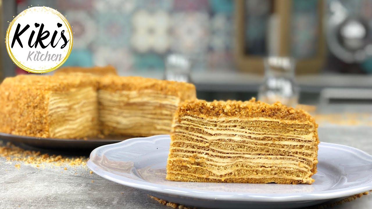Medovik Marlenka Kuchen Rezept Russischer Honigkuchen Medovnik