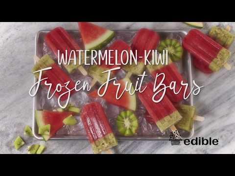 Watermelon-Kiwi Frozen Fruit Bars Recipe