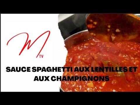 sauce-spaghetti-aux-lentilles-et-aux-champignons
