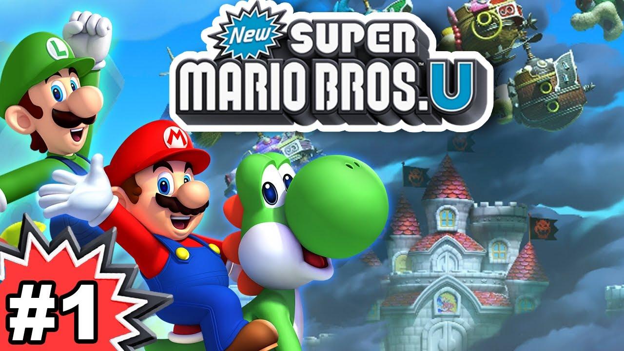 New Super Mario Bros U 100 Multiplayer Walkthrough Part 1 Youtube