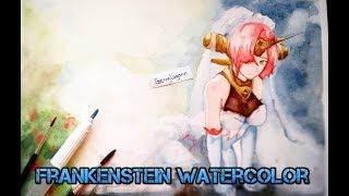 Drawing Frankenstein - Fate Apocrypha  with Watercolor
