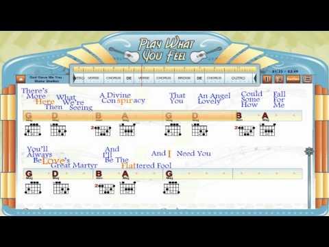 God Gave Me You - Blake Shelton - Guitaraoke - Chords & Lyrics, Tabs, Karaoke - playwhatyoufeel.com