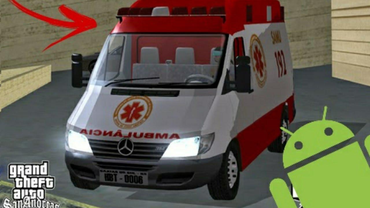 ambulancia do samu para gta san andreas
