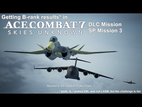Getting B Results In X-02S - Ace Combat 7 DLC Mission 3: Ten Million Relief Plan (with Custom BGM)
